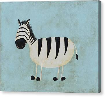 Alfred The Zebra Nursery Art Canvas Print by Katie Carlsruh