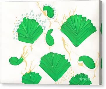 Algae Blooms Canvas Print by Mary Mikawoz
