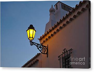 Travel Canvas Print - Algarve Street Lamp by Angelo DeVal