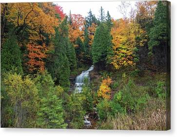 Alger Falls Canvas Print by Heather Kenward