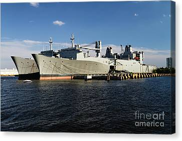Algol Class Military Cargo Ships Canvas Print by George Oze