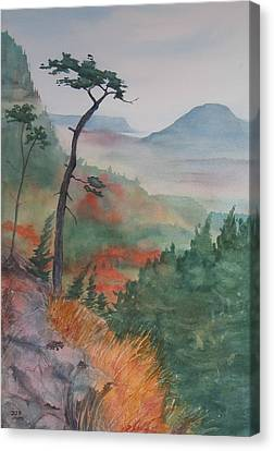 Algoma Morning  Canvas Print by Debbie Homewood