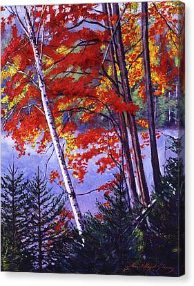 Algonquin Lake Fall Canvas Print by David Lloyd Glover