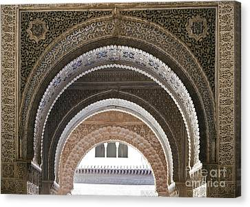 Alhambra Arches Canvas Print by Jane Rix