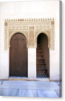 Alhambra Door And Stairs Canvas Print by Jane Rix