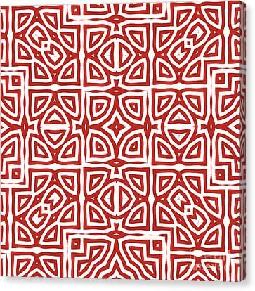 Alhambra Red Canvas Print