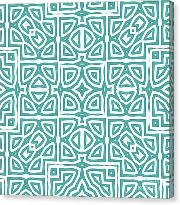 Alhambra Teal Canvas Print