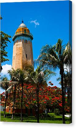Alhambra Water Tower Canvas Print by Ed Gleichman
