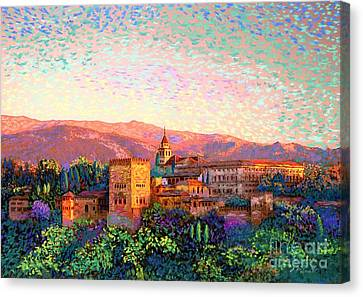 Rural Landscapes Canvas Print - Alhambra, Grenada, Spain by Jane Small