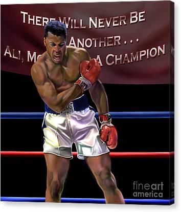 Ali - More Than A Champion Canvas Print by Reggie Duffie
