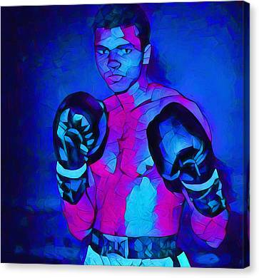 Ali Graphic Abstract Canvas Print by Dan Sproul