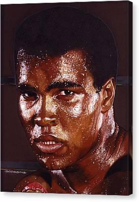 Ali Canvas Print by Tim  Scoggins