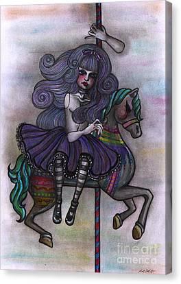 Alice And Merry-go-round Canvas Print