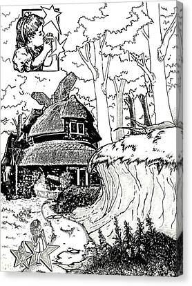 Alice At The March Hare's House Canvas Print by Turtle Caps