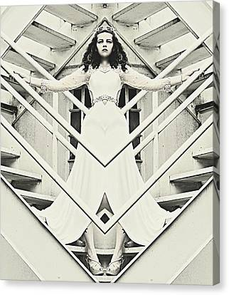 Alice In The Mirror  Canvas Print by Pamela Patch