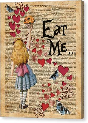 Alice In The Wonderland Eat Me Muffin  Canvas Print