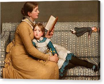 Alice In Wonderland Canvas Print by George Dunlop Leslie