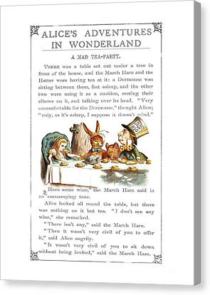 Tea Party Canvas Print - Alice In Wonderland Tea Party by Charlie Ross