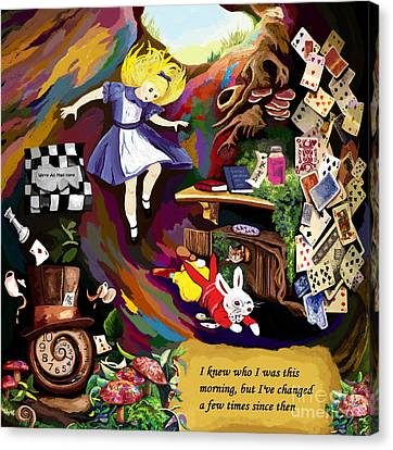 Alice Is Changing Canvas Print by Jackie Case
