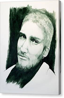 Alice N Chains - Layne Staley Canvas Print by William Walts