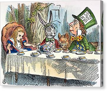 Alices Mad-tea Party, 1865 Canvas Print by Granger