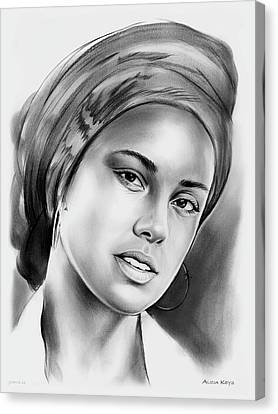 Alicia Keys 2 Canvas Print by Greg Joens
