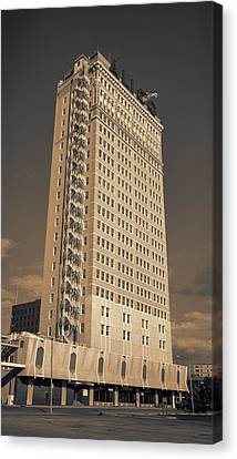 Fire Escape Canvas Print - Alico Building #2 by Stephen Stookey