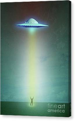 Alien Abduction Canvas Print by Edward Fielding