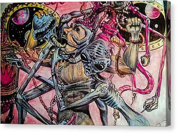 Alien Abduction  Canvas Print by John Balestrino