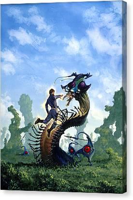 Alien Captive Canvas Print by Richard Hescox