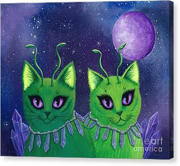 Alien Cats Canvas Print