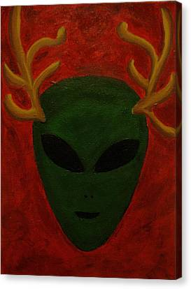 Alien Deer Canvas Print