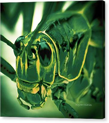 Alien Canvas Print by DigiArt Diaries by Vicky B Fuller