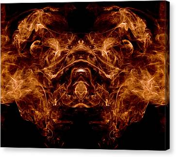 Alien Dog Canvas Print by Val Black Russian Tourchin