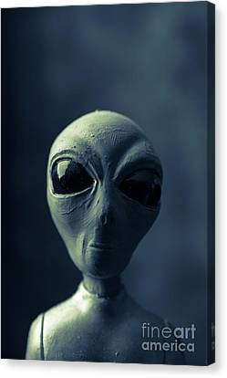 Alien Encounter Canvas Print by Edward Fielding