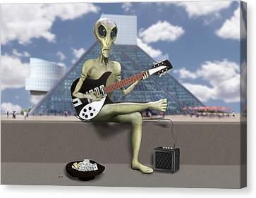 Alien Guitarist 1 Canvas Print