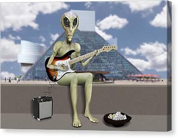 Alien Guitarist 2 Canvas Print