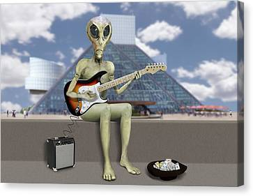 Canvas Print - Alien Guitarist 2 by Mike McGlothlen