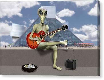 Alien Guitarist 3 Canvas Print