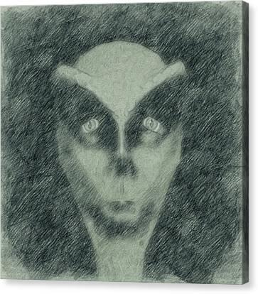 Alien Canvas Print - Alien Head Sketch by Raphael Terra