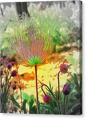Alien In The Garden Canvas Print by Julie Lueders