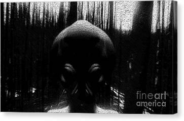 Bizarre Canvas Print - Alien In The Woods by Raphael Terra