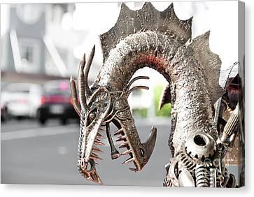 Alien Invasion.dragon. Canvas Print by Yurix Sardinelly