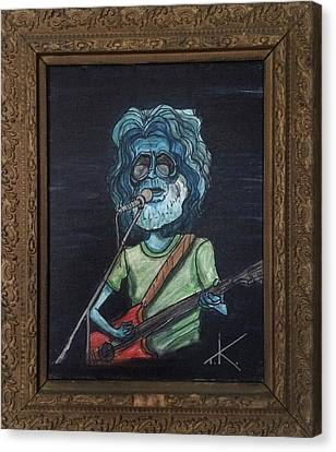 Canvas Print featuring the painting Alien Jerry Garcia by Similar Alien