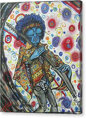 alien Jimi Hendrix Canvas Print