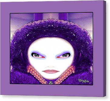 Canvas Print featuring the photograph Alien Mom #194 by Barbara Tristan
