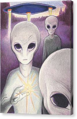 Alien Offering Canvas Print by Amy S Turner