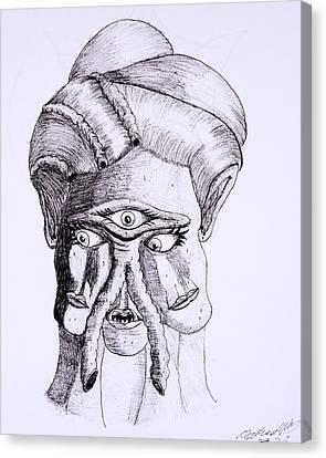 Alien Portrait Canvas Print by Clark Norris