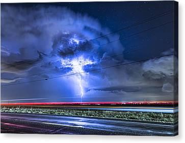 Alien Power Line Explosion Canvas Print