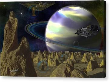 Alien Repose Canvas Print by Vincent Autenrieb